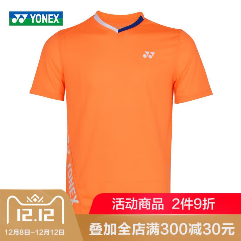 新款YONEX尤尼克斯官网羽毛球服YY男款女款运动短袖透气T恤110627