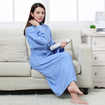 Cotton padded towel material bathrobe hotel couple robe men and women plus size absorbent bathrobe thin summer autumn and winter made