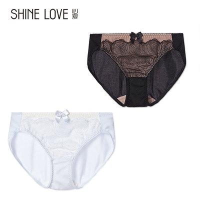 愛慕集團夏季新品心愛品牌女士內褲性感蕾絲低腰平角底褲純棉里襠