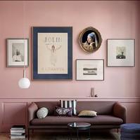 80 vintage time复古vintage风金色画框相框挂墙文艺复兴人物画