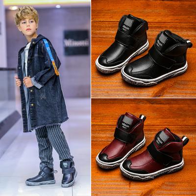男童棉鞋2018新款冬季加绒保暖韩版女童儿童鞋子男孩二棉大棉冬鞋