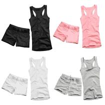 春夏短款高温瑜伽服工字背心套装定做订制女健身练功跳钢管舞蹈服