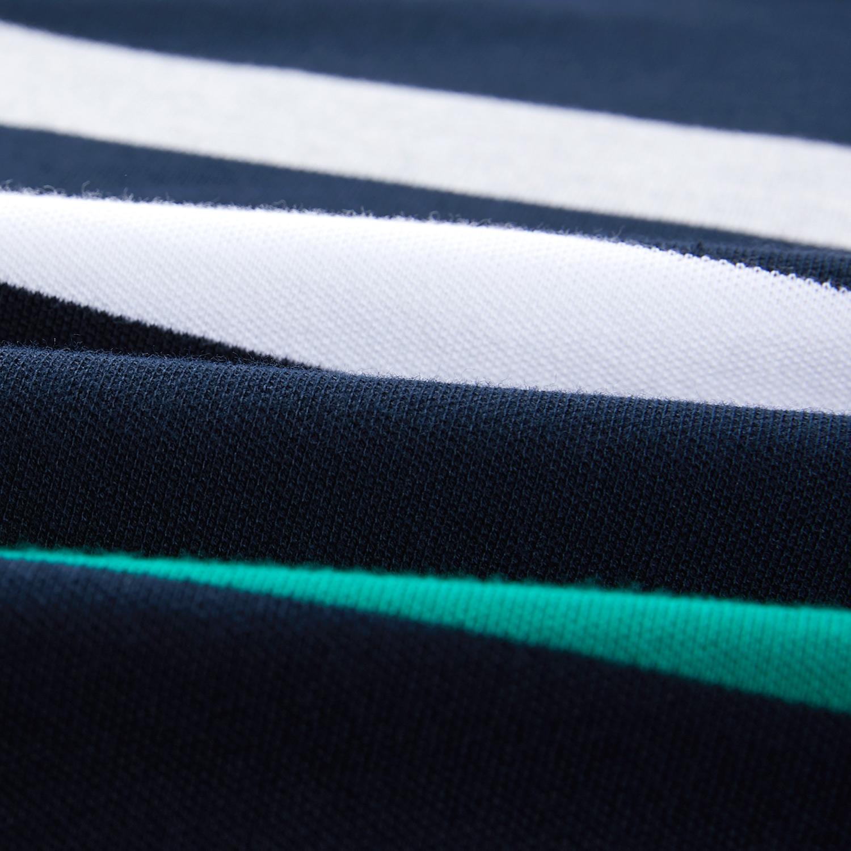 HLA/海澜之家撞色条纹短袖POLO2019夏季舒适透气短袖T恤男