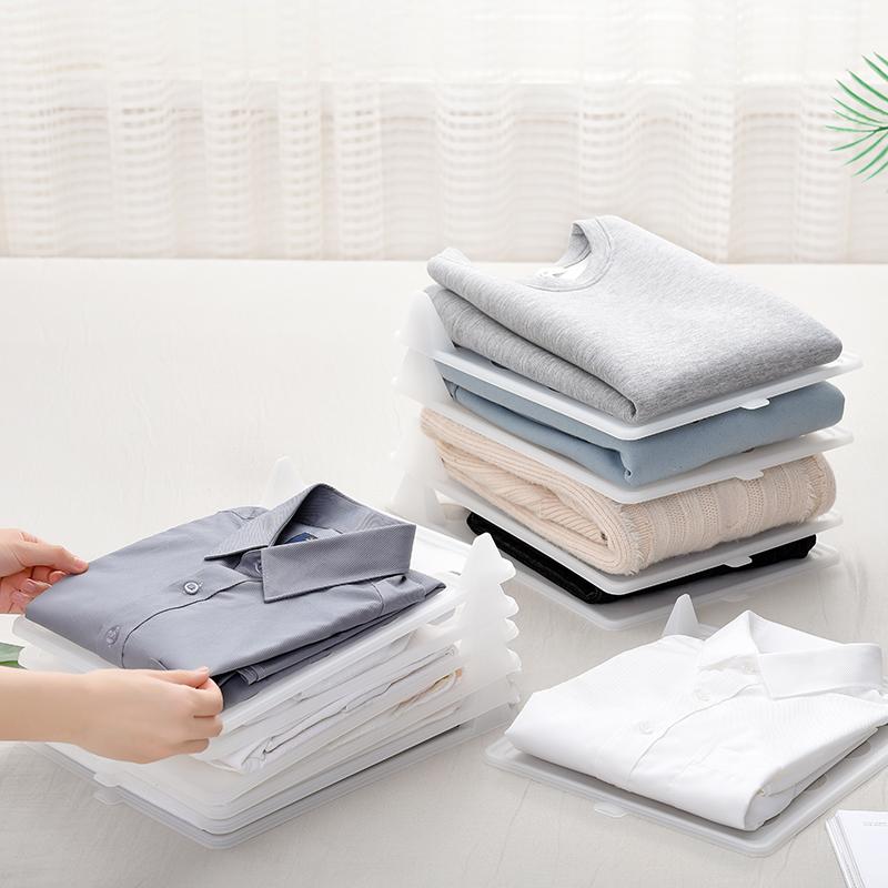 衣柜收纳叠衣板懒人叠衣服衣物整理工具T恤衬衫收纳整理架防皱