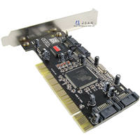 West PA SYBA SATA disk PCI array card SATA expansion card 4 port Support 8.0T capacity RAID5