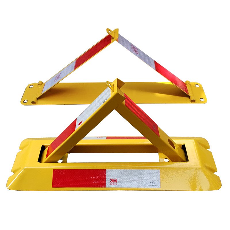 地锁车位锁停车位汽车槽钢免开孔占位三角免打孔固定架专用挡车器