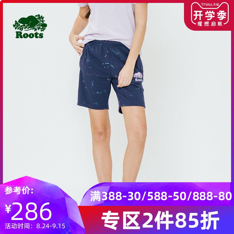 roots2019年夏季时尚休闲青春活力舒适针织休闲女式短裤