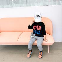 儿童T恤男童纯棉秋季新款上衣男孩韩版潮春秋打底衫小童洋气秋装