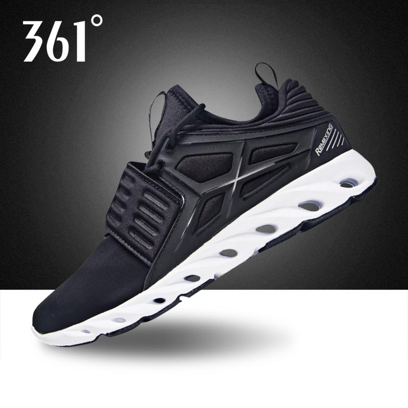 361度女鞋休閑鞋2019冬季新款防滑耐磨運動鞋361黑色跑步鞋女Y