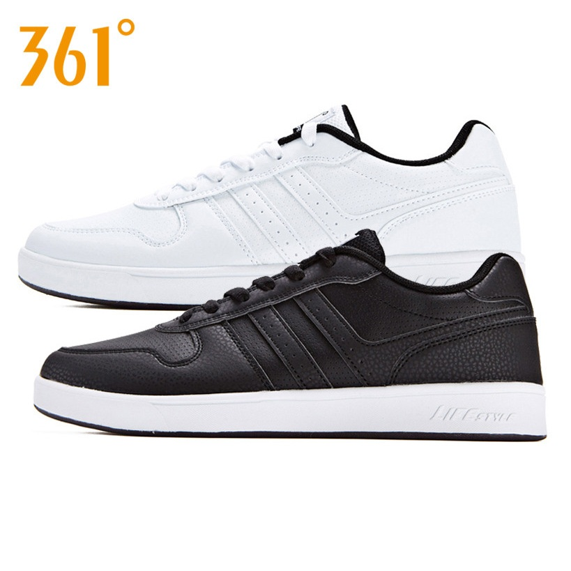 361男鞋板鞋男2019冬季新款皮面小白鞋运动鞋潮鞋休闲鞋黑色鞋子