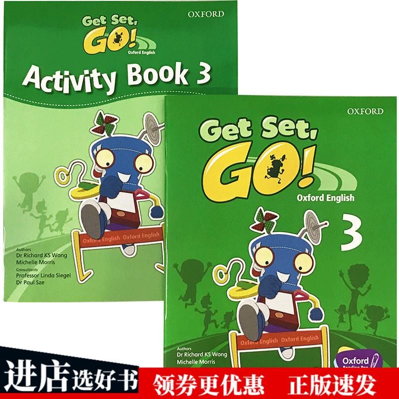 正版现货 牛津幼儿英语启蒙教材 英文原版 Get Set Go Book 3 学生用书+练习册  Oxford English  英文版进口书籍