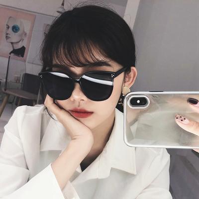 墨镜女韩版潮明星网红v牌2019新款太阳眼镜男GM街拍圆脸防紫外线