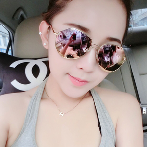 783e463d57 2018 new sunglasses female round face Korean version of the tide ...