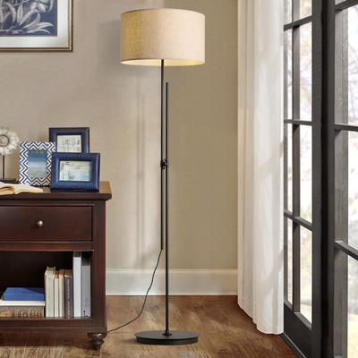 邦镇美式乡村复古创意地台灯书房客厅卧室可调节布艺灯罩落地灯
