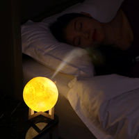 Net red moon air humidifier home mute desktop small bedroom mini dormitory student night light office portable cute bed head aromatherapy creative car spray rechargeable