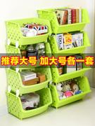 儿童玩具收纳架绘本架玩具柜宜家宝宝整理架大容量塑料多层储物柜