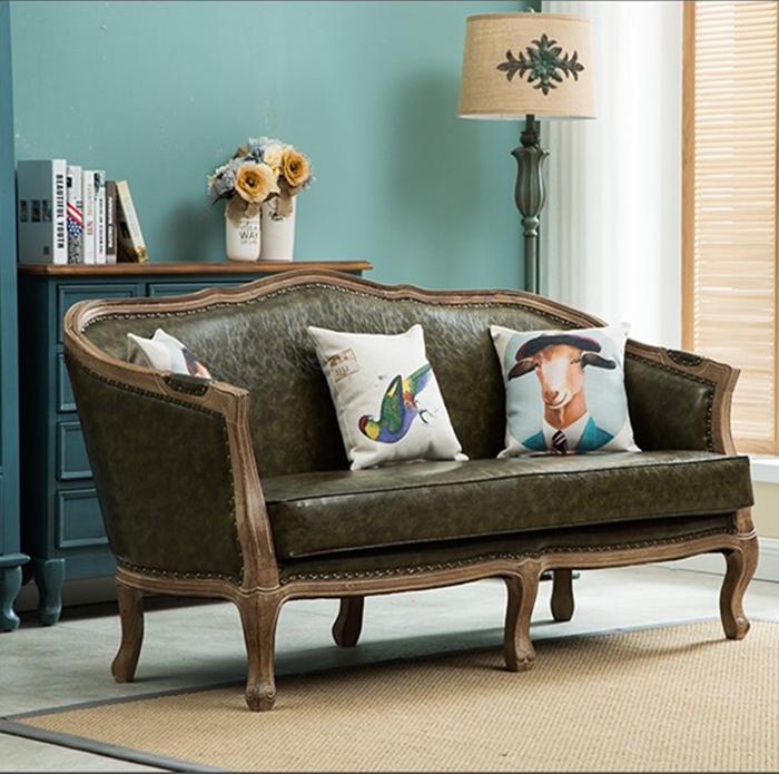 美式沙发橡木