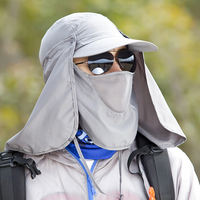 Dust cap work cap male summer shawl cap full face UV protective cap summer sandproof sunscreen mask