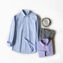 2色收男士都爱穿舒适好打理商务休闲18秋款长袖衬衫妞子家
