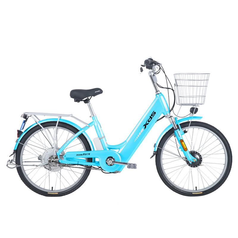喜德盛电动车灵动7号铝合金电动自行车48V锂电车24吋大轮径