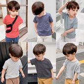 儿童装 打底衫 t恤夏装 上衣男童潮X1064 新款 宝宝半袖 婴儿纯棉短袖