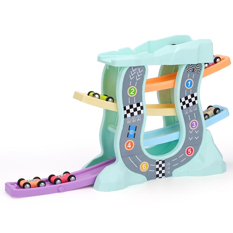 轨道车玩具男孩惯性小汽车儿童赛车玩具滑翔车宝宝玩具车3-4-5岁