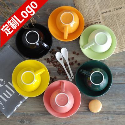 淘礼轩欧式陶瓷拉花咖啡杯碟套装大容量300ml拿铁杯下午茶红茶杯