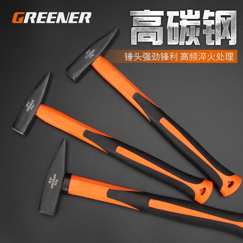 绿林钳工锤小锤子钣金锤小铁锤电工锤小榔头鸭嘴锤子扁头锤线槽锤