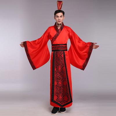 古代唐装男士古装古风汉服长袍修身帅气新郎礼服中式结婚礼服套装