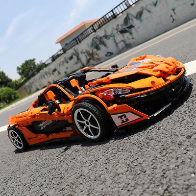 信宇迈凯伦p1积木赛车樂高汽车跑车模型成年大人高难度拼装玩具