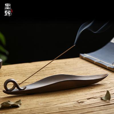 墨臻 创意陶瓷香插 线香炉线香炉香座香托沉檀香卧香炉家用香薰炉