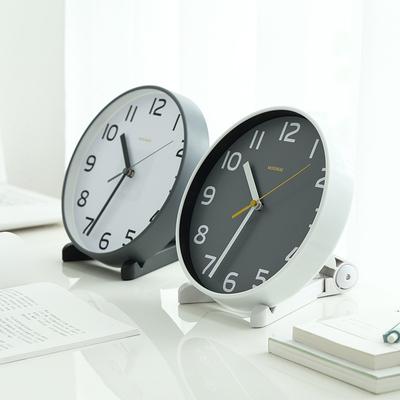 客厅小挂钟座钟两用台式钟表欧式创意台钟卧室摆钟8英寸静音时钟品牌排行