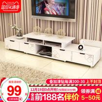 包邮钢化玻璃电视柜现代简约茶几电视机柜组合客厅小户型迷你地柜
