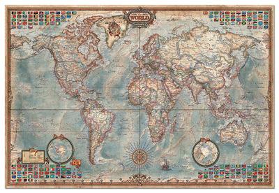 【现货包邮】EDUCA  进口拼图 1000 1500 4000片 雷诺瓦 世界地图