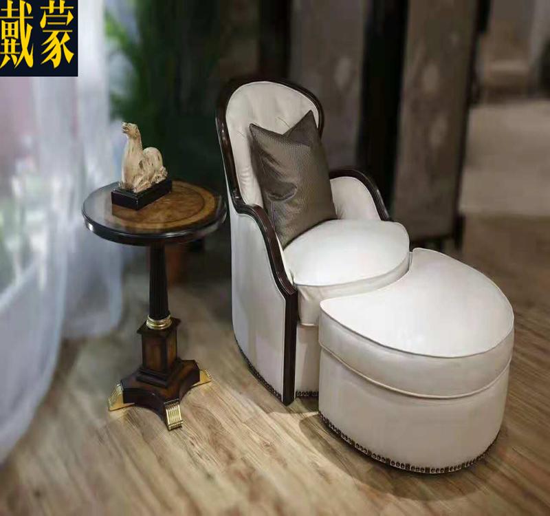 戴蒙意大利欧式古典卧室单人沙发休闲沙发椅贵妃组合沙发懒人沙发