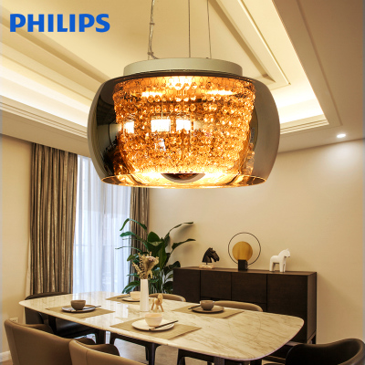 飞利浦LED吊灯灯饰灯具简约美式水晶创意餐厅灯客厅卧室璀璨典珍性价比高吗