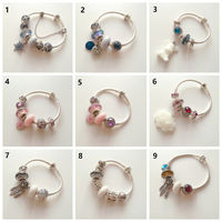 Sterling silver Pandora breast milk hair bracelet finished bracelet material package breast milk hair souvenir breast ball bracelet