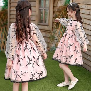 女童连衣裙2018新款春装韩版夏公主裙中大童儿童装小女孩洋气裙子