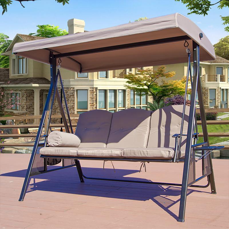 奥维堡 户外秋千双人室外吊椅室内吊篮庭院阳台藤椅成人摇篮摇椅