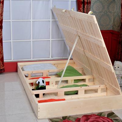 实木榻榻米硬板床1.5米折叠 床架子储物 护腰1.8米高箱矮床地台床什么牌子好