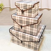 家居杂物储物箱桌面有盖可折叠 活动价 布艺收纳箱收纳盒无纺布