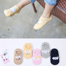 Children's socks from 1 to 10 years old Pure cotton summer thin boy and girl's invisible socks spring and autumn short socks baby boat socks