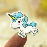 Korea cute unicorn rainbow pony cartoon sponge stereo 3D children bubble stickers small stickers small paste painting