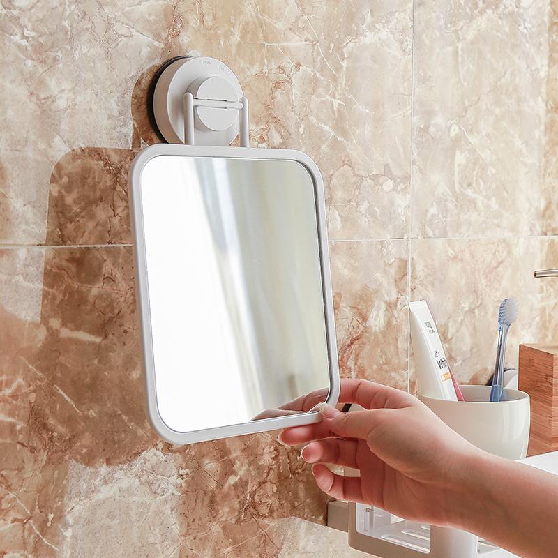 韩国吸盘化妆镜卫生间 壁挂式门后镜子可调节浴室镜子化妆可移动