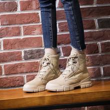 春夏季户外高帮登山鞋徒步短靴沙漠马丁靴防滑防水加绒女鞋单靴