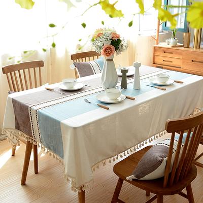 餐桌桌布布艺日式棉麻小清新茶几桌布台布北欧长方形现代简约桌垫