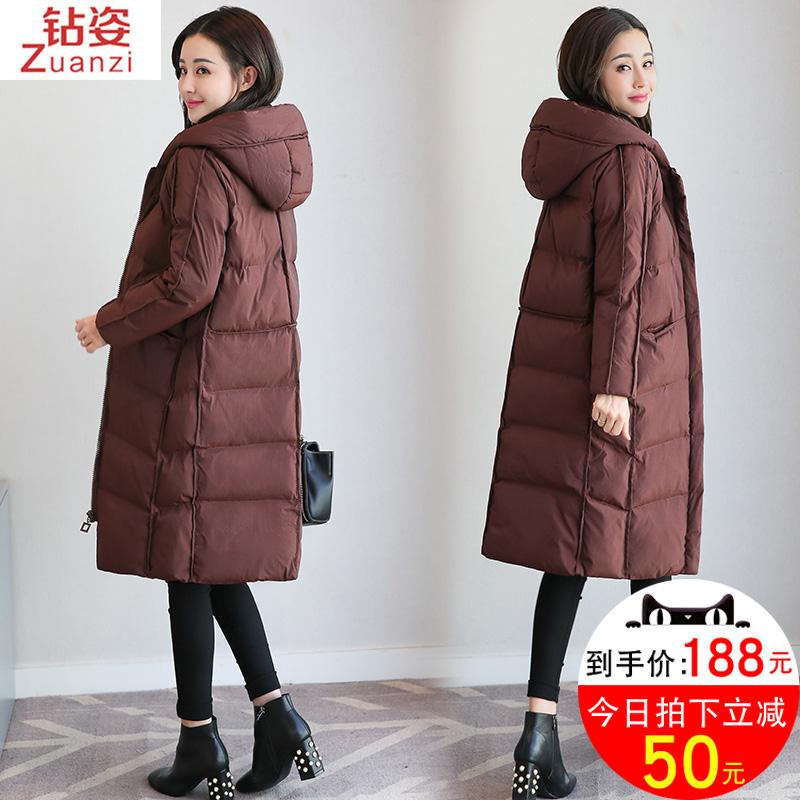 韩国中长款羽绒棉服
