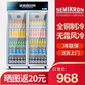 饮料柜保鲜冷藏展示单门双门商用超市冰箱立式冷柜小型冰柜大容量