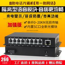 8路电话加1路网络PCM电话光端机网络单多模电话语音光端机光纤