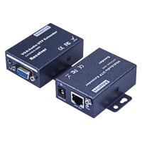 HD VGA network cable extender 100 meters 200 meters 300 meters to rj45 signal amplification enhanced transmitter